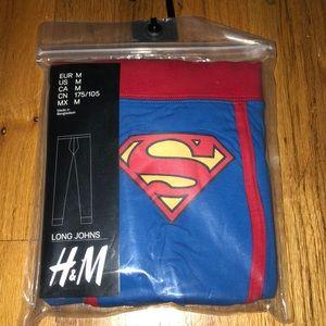 H&M Pants - Brand New Rare Superman Long Johns